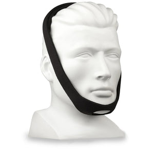 Mannequin with Adam Style Deluxe Black Chinstrap by AG Industries.