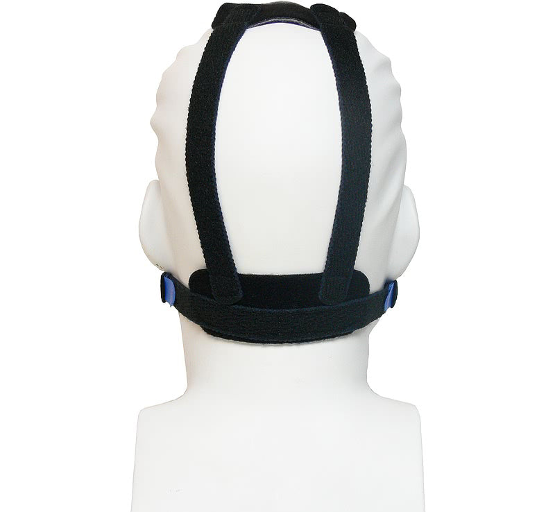 Back view of the black headgear for SleepWeaver Advance Nasal Mask.