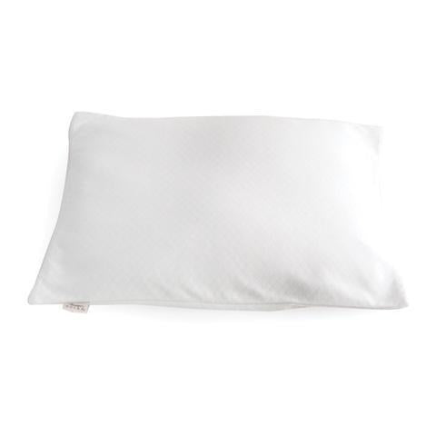 Front view of Buckwheat Bed Pillow in white.