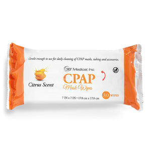 Front view of package from CPAP Wipes (Citrus) - 80/pack