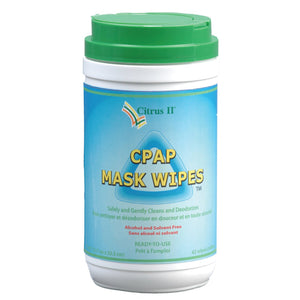 Full container view of citrus cpap mask wipes