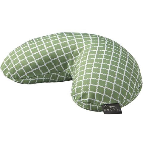 Side view of Compack Neck Pillow with Snap & Go Garde Lattice Style by Bucky.