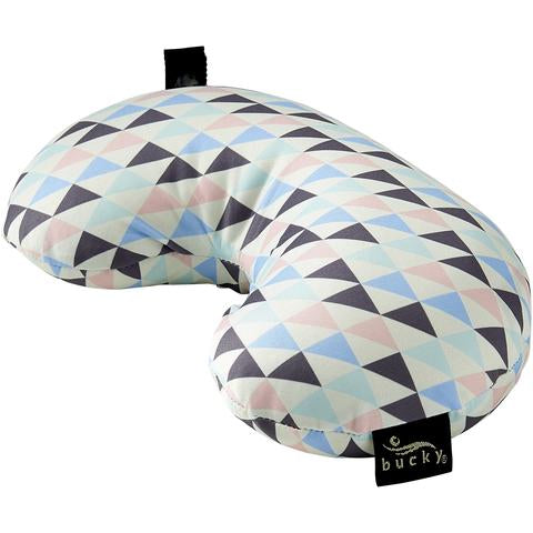Side view of Compack Neck Pillow with Snap & Go Geo Tri Style by Bucky.
