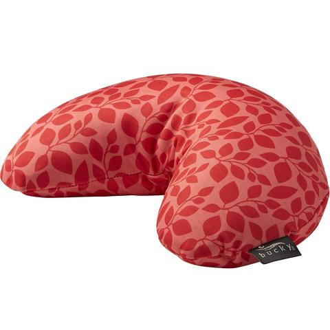 Side view of Compack Neck Pillow with Snap & Go Hibiscus Leaf Style by Bucky.