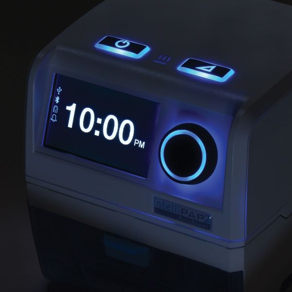 Night shift mode with lights for IntelliPAP 2 AutoAdjust Auto-CPAP Machine Package with Heated Humidifier