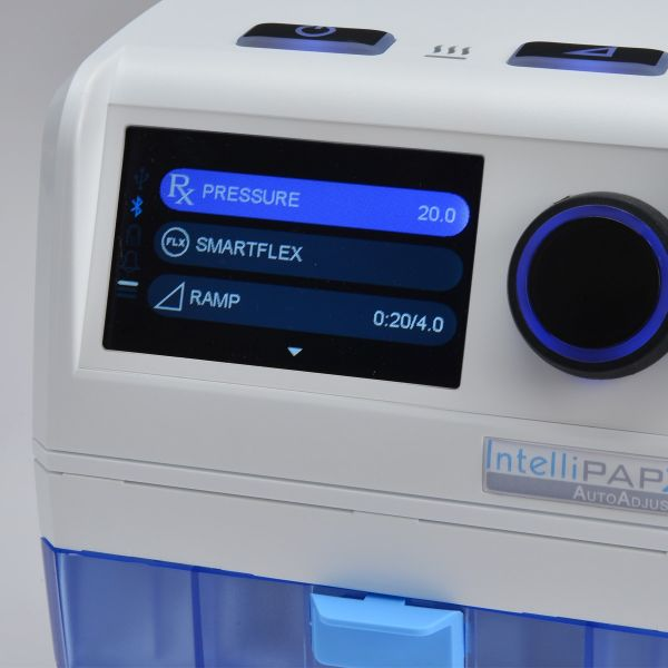 Screen display of IntelliPAP 2 AutoAdjust Auto-CPAP Machine Package with Heated Humidifier