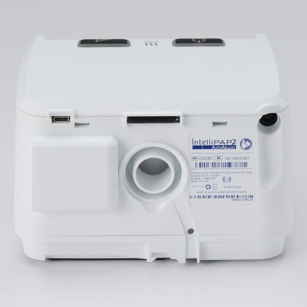 Back view of IntelliPAP 2 AutoAdjust Auto-CPAP Machine Package