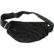 Front view of Ebony Aromatherapy Multi-Purpose Wrap in black with straps.