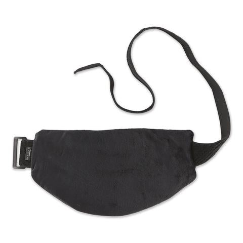 Back view of Ebony Aromatherapy Multi-Purpose Wrap in black with straps.