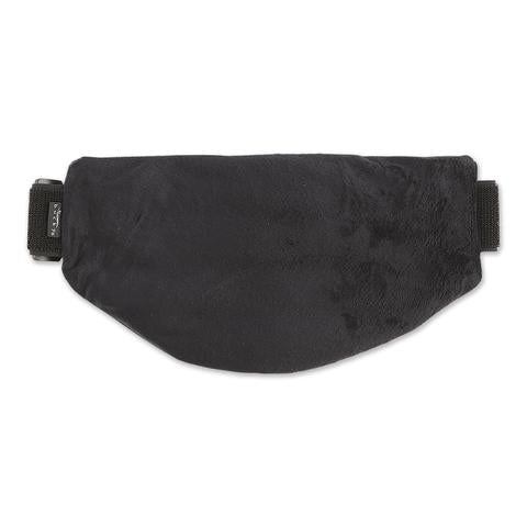 Front view of Ebony Aromatherapy Multi-Purpose Wrap in black without straps.