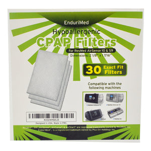 Box For The EnduriMed Hypoallergenic CPAP Filters 30 Pack