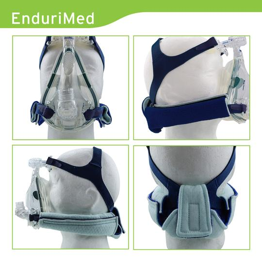 CPAP neck pad different views.