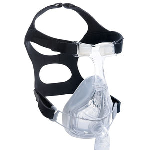 Side view of Fisher & Paykel Forma Full Face CPAP Mask with black Headgear