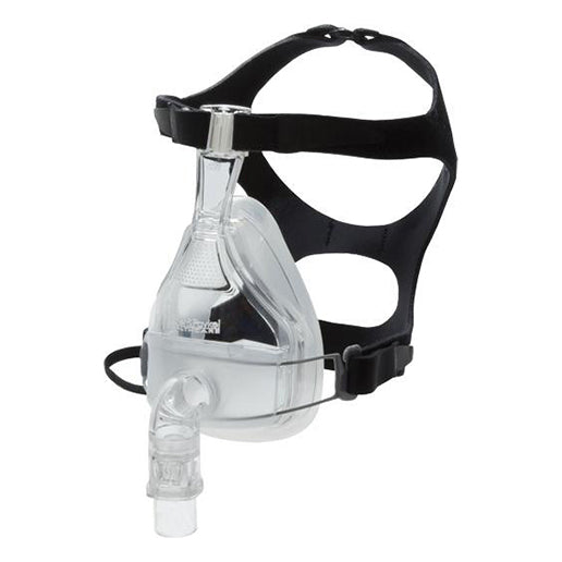 Isometric view of Flexifit 431 Full Face Mask with black Headgear