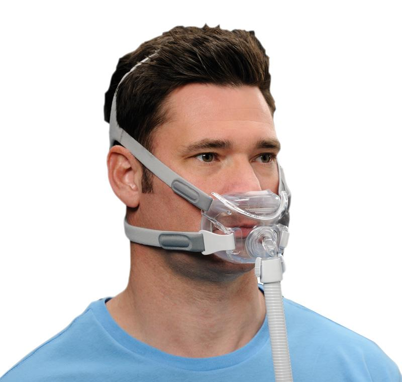 Man using Amara View CPAP Mask.