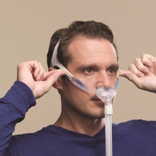 Man with Nuance/Naunce Pro gel mask.