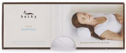Rectangle package of Bolster White Pillow by Bucky.