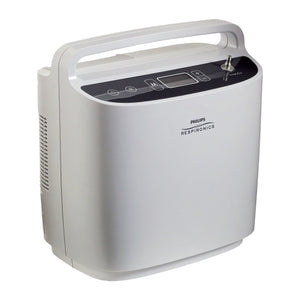 Front view of Philips Respironics SimplyGo Portable Oxygen Concentrator Bundle (Continuous Flow & Pulse Dose)