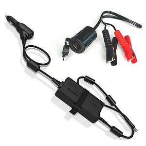 Black Mobile DC Power converter cord with cigarette plug in for ResMed AirStart, AirCurve and AirSense CPAP Machines.