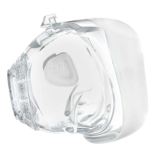 Side view of clear Mirage FX Cushion