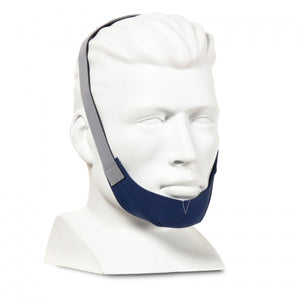 Sullivan chinstrap fitted on head.