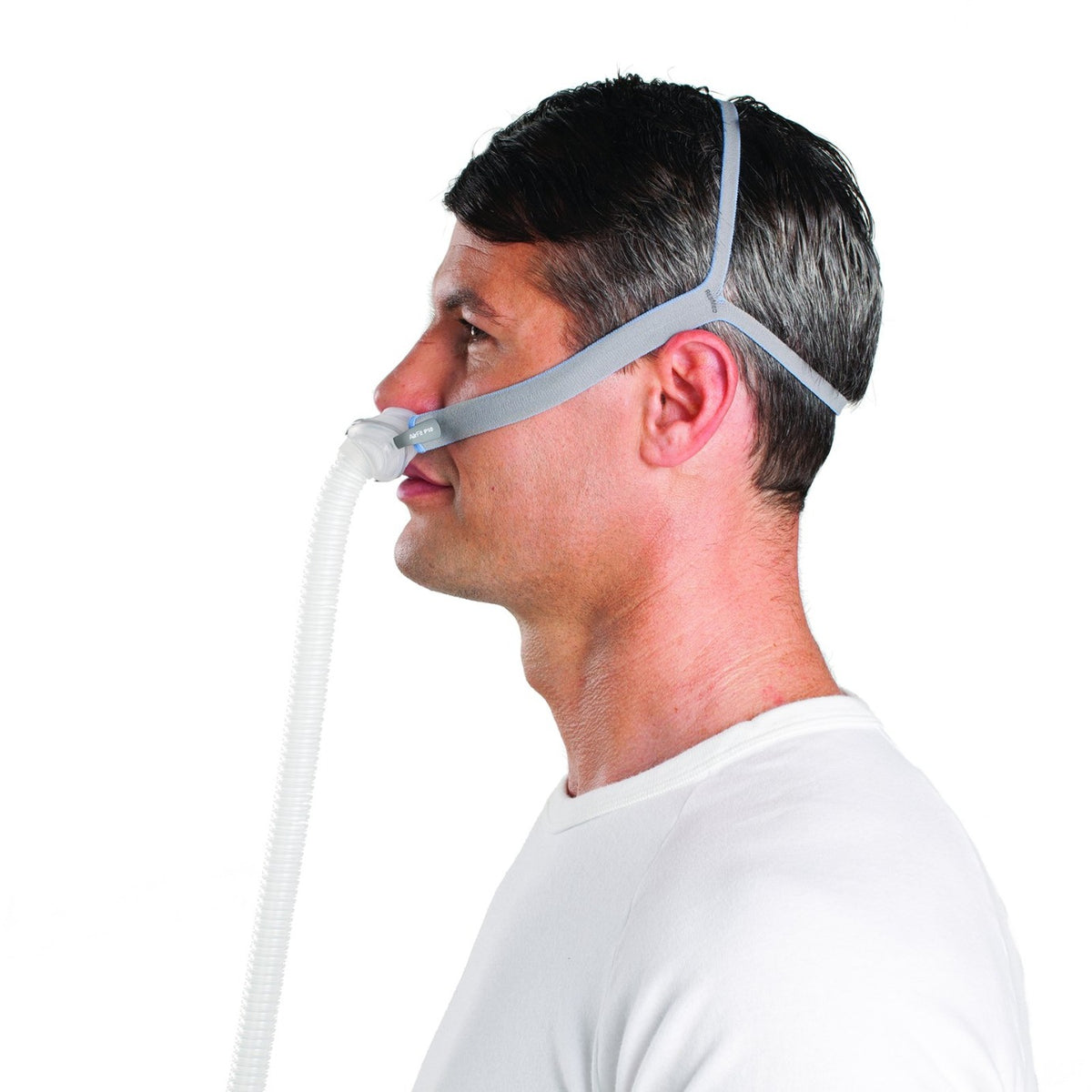 Side view of man wearing AirFit P10.