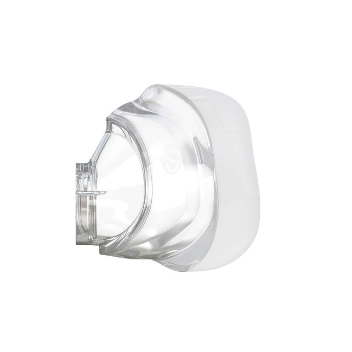 Side view transparent ResMed AirFit N20 Cushion
