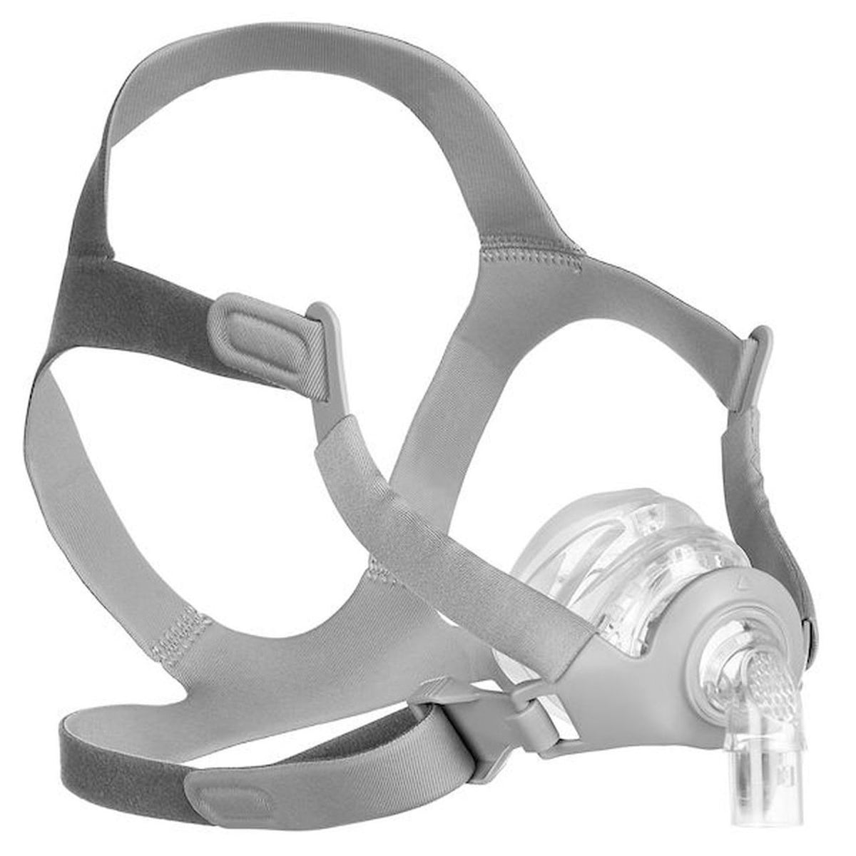 Isometric view of grey headgear and nasal frame cushion for Siesta Nasal Mask by 3B Medical.