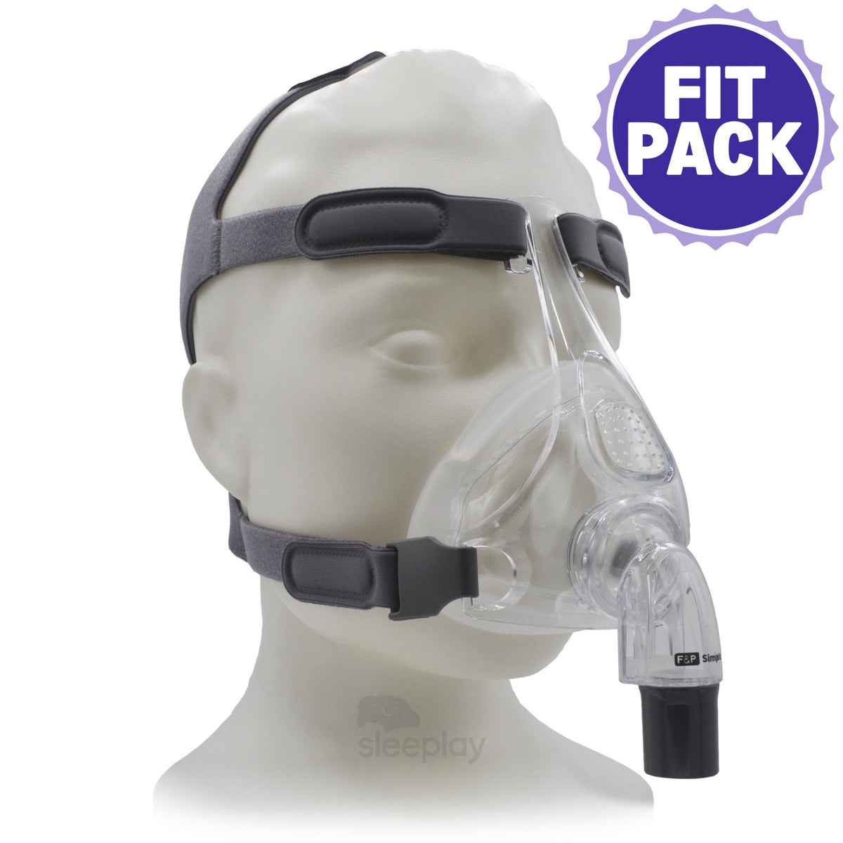 Simplus™ Full Face CPAP Mask with Headgear - Fit Pack