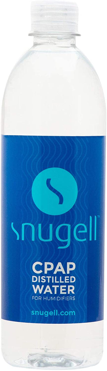 Single bottle of Snugell Distilled Water.