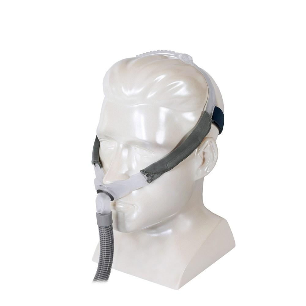 Left side view of Swift FX complete mask on mannequin.