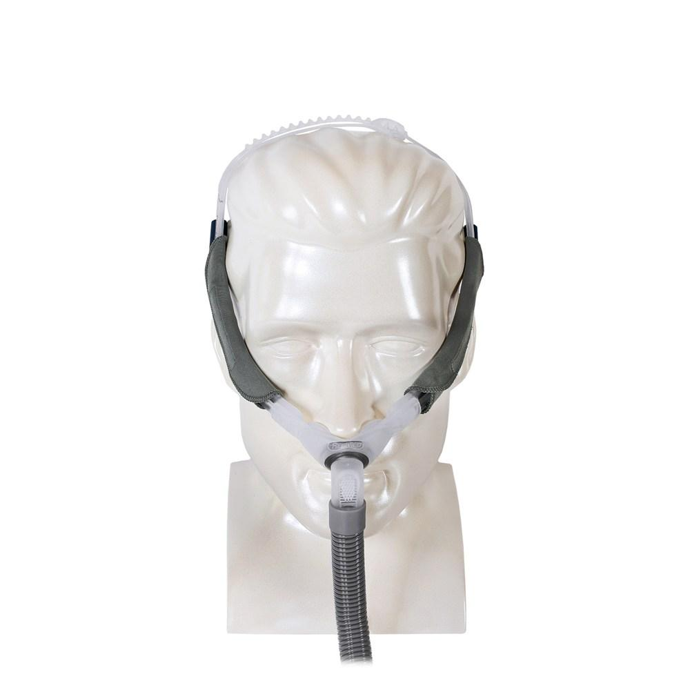 Front view of Swift FX complete mask on mannequin.