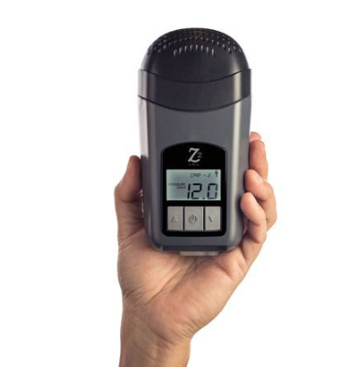 Z2 Ultra-Small, Travel CPAP, hold by a hand