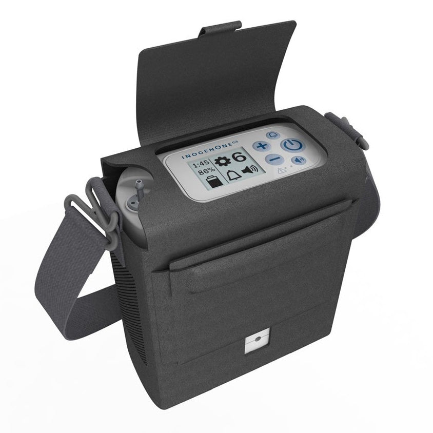Inogen One G5 Portable Oxygen Concentrator Bundle In Bag.