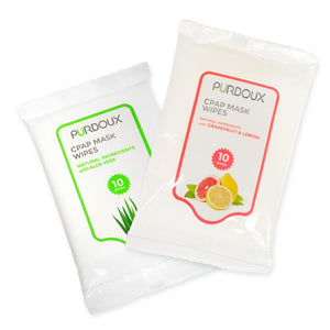Both scents of the cleaning wipes made by Purdoux.