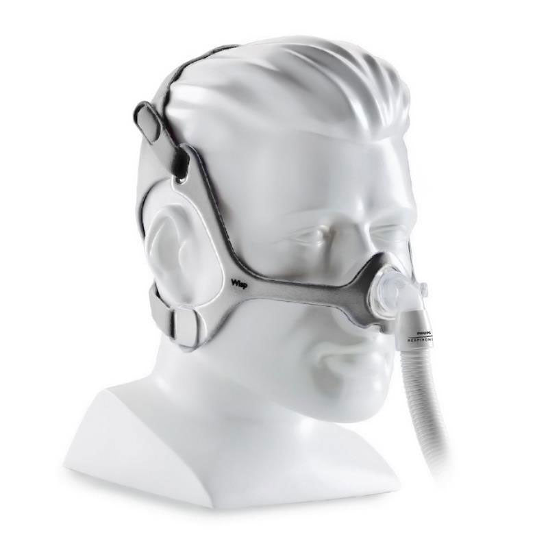 Mannequin wearing Wisp CPAP Mask.