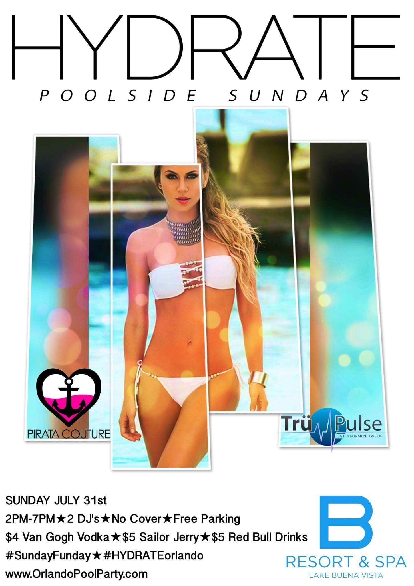 Hydrate Poolside Sundays @ B Resort & Spa