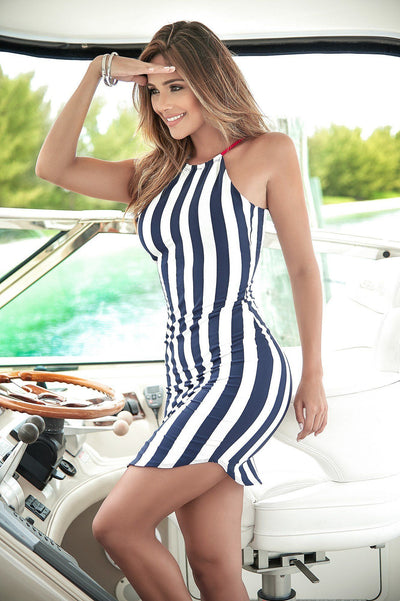 Nautical Stripes Sun Dress - PIRATA COUTURE