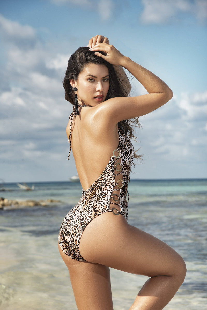 Exotic Animal Print Monokini