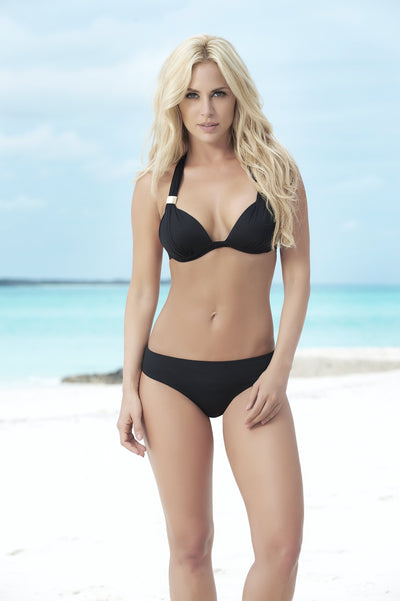 Black Push Up Triangle Bikini Top