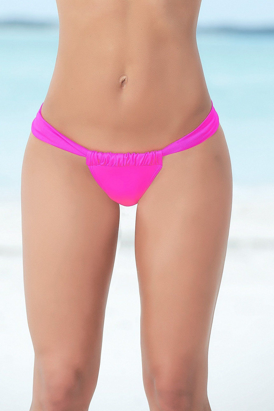 Hot Pink Sunny Days Thong - PIRATA COUTURE