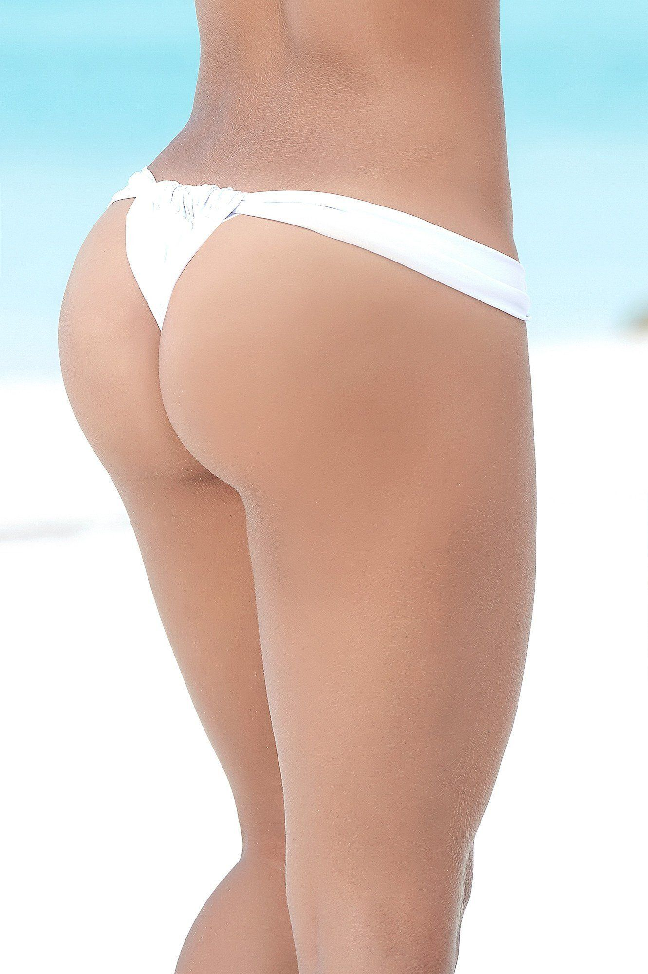 White Sunny Days Thong - PIRATA COUTURE