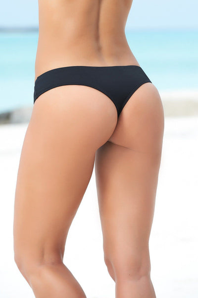 Black Thong Bikini Bottom - PIRATA COUTURE