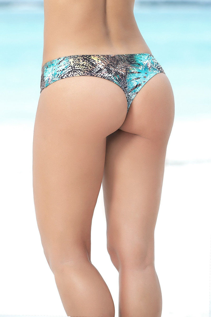 Wild Animal Print Thong Bikini Bottom