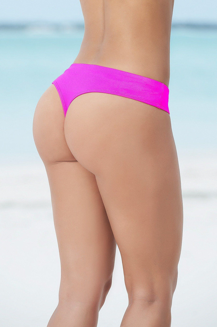 Hot Pink Thong Bikini Bottom - PIRATA COUTURE