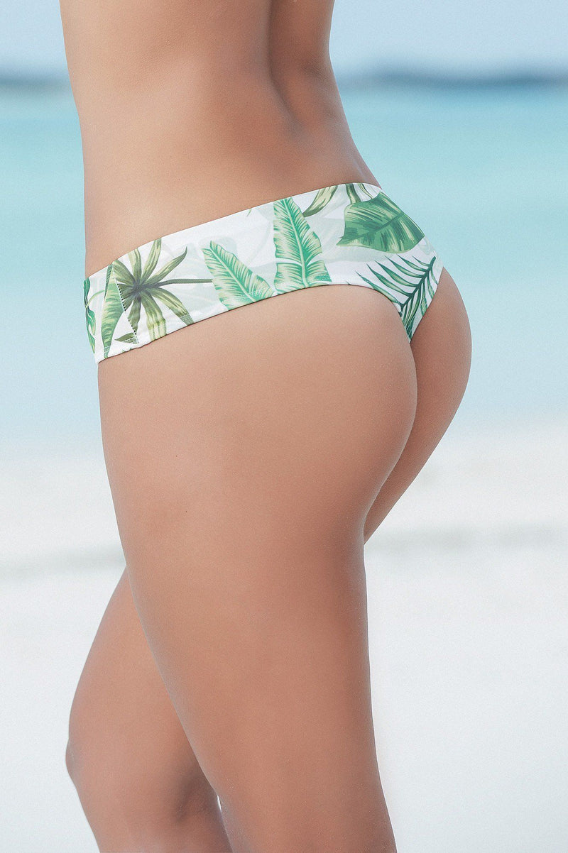 Tropical Prints Thong Bikini Bottom