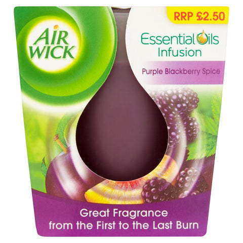 Air Wick Essential Oil Infusion Purple Blackberry Spice