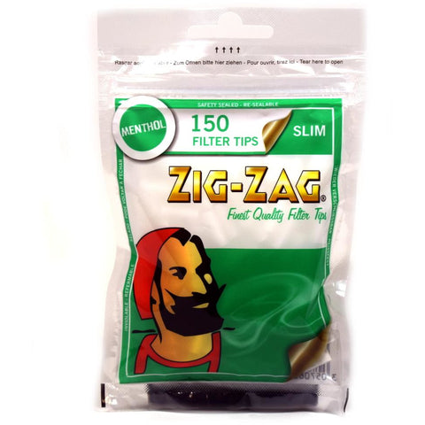 Zig - Zag Filter Tips Slim Menthol Bag 150'S
