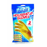 Duzzit Household Rubber Gloves 2 Pack Medium
