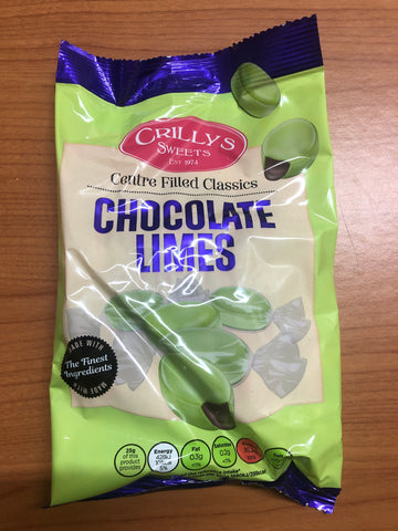 Crillys Sweets Chocolate Limes 200g